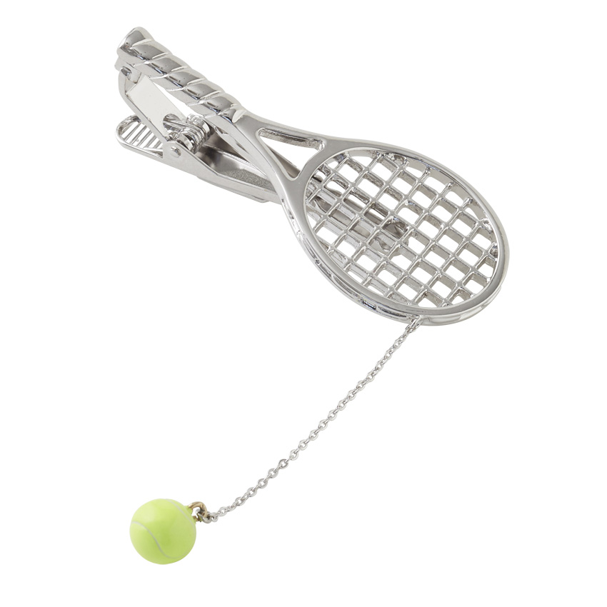 テニスラケットタイピン SILVER