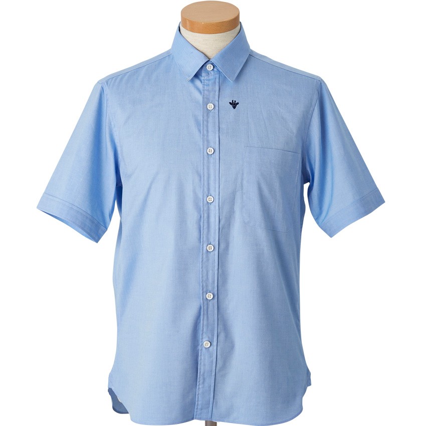giraffe半袖レギュラーシャツ LT.BLUE M