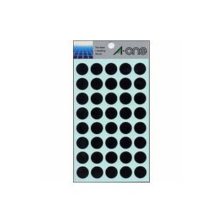 送料無料 エーワン カラーラベル 黒 14シート 07029 丸型 15mm 海外並行輸入正規品 本物◆