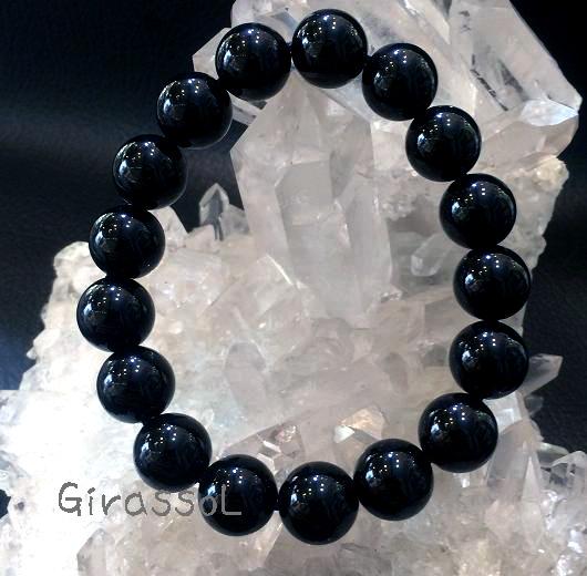 黒水晶(モリオン)RD12mmブレスレット