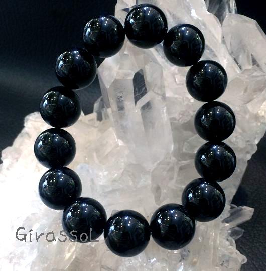 黒水晶(モリオン)RD14mmブレスレット