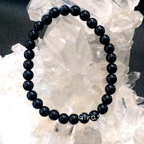 黒水晶(モリオン)RD6mmブレスレット