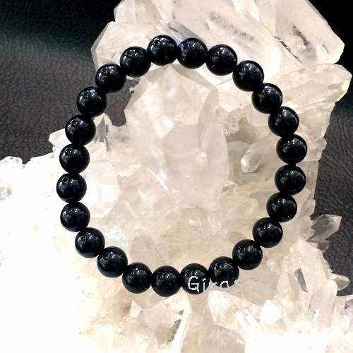 黒水晶(モリオン)RD8mmブレスレット