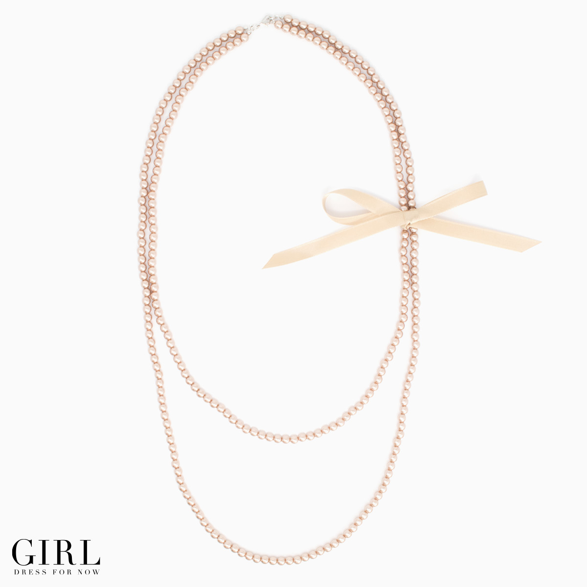 Pearl Necklace ◆ 2-long ◆ with Ribbon ◆ pearl necklaces pearl Pearl necklace party party party formal