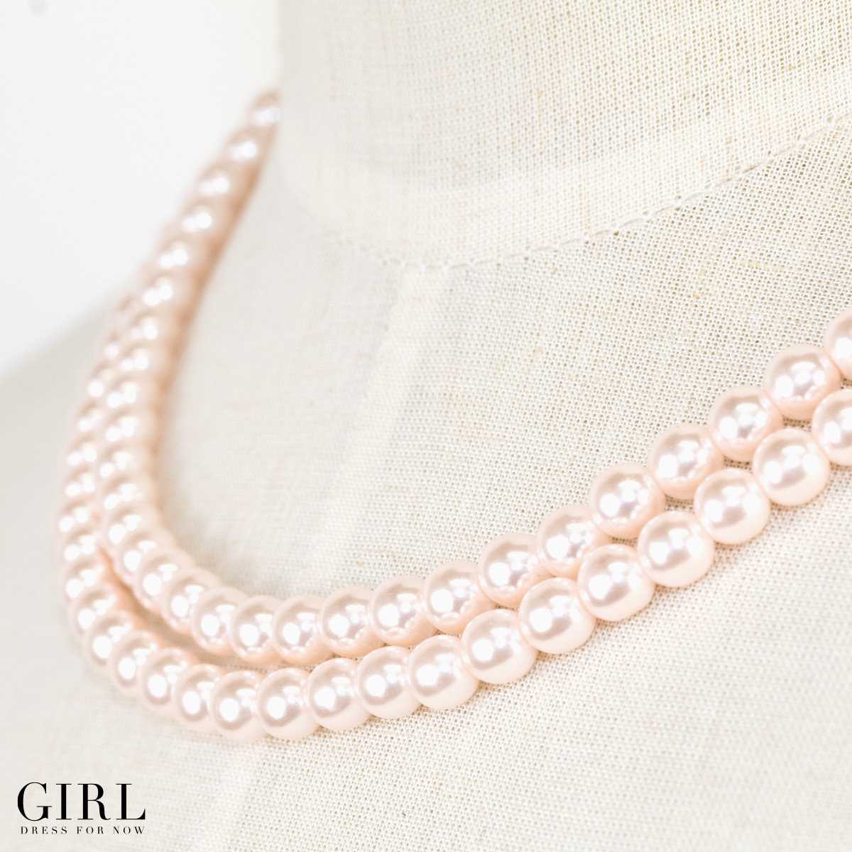 Atmosphere Pearl girl in cute little 2-Pearl necklace an elegant wish for you necklace Pearl party party party formal parties 3 ladies store
