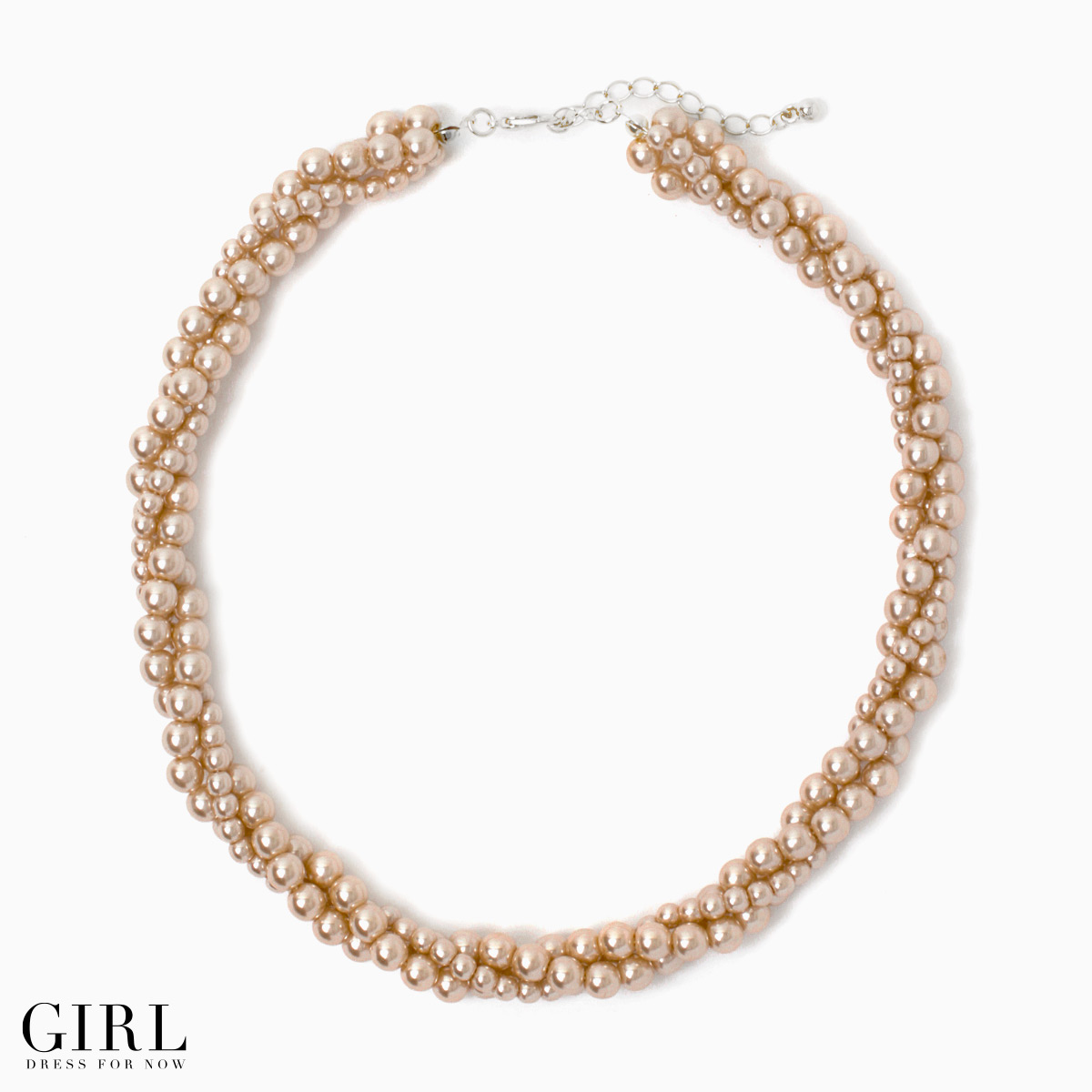Simple Pearl Necklace! Twist design Pearl Pearl pearl neclkace accessories accessory pearl necklace wedding party store formal Pearl Necklace