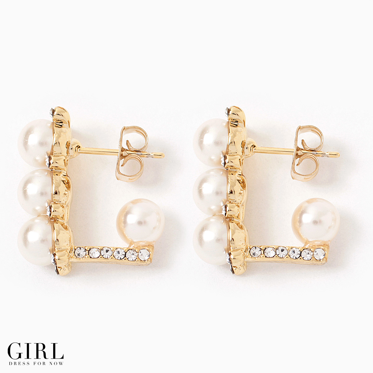 Sparkling Triple Pearl Earrings Rhinestone On The Simple Products Lady Pierce Party Formal Casual Dating