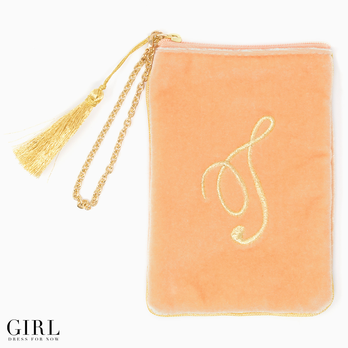 50% Off!! Smart phone or digital camera to cute cute initials porch wristlet velour cosmetic pouch wristlet pouch gold embroidered initials porch cigarette case Smartphone mail order mail order 10P13oct13_b