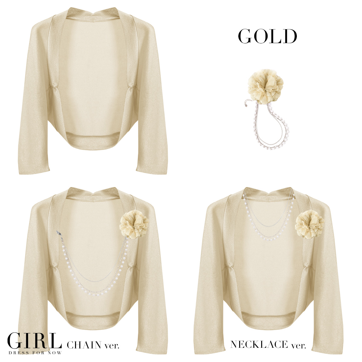 Lamont Bolero / wedding / Bolero / party party formal long sleeve wedding Bolero/パーティーボレロ/with / chain necklace with seven minutes sleeves 3 invited party Bolero party dress 10P13oct13_b