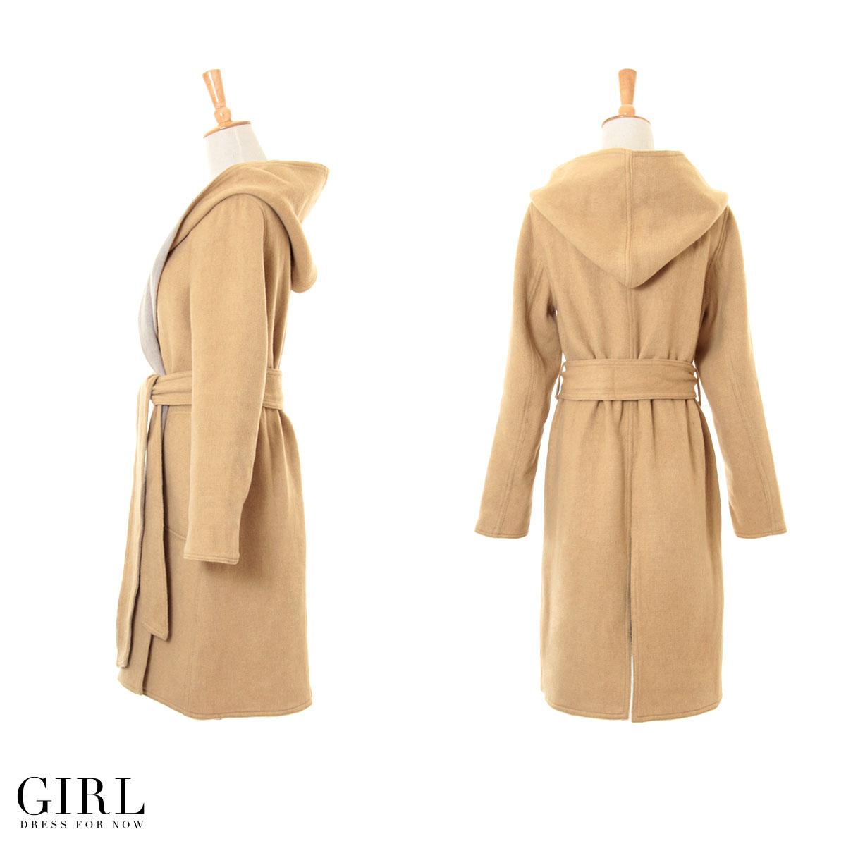 Coat River Court gowns women's coat outerwear winter autumn/winter jacket casual dress one piece beige Navy Black S M L 2 l LL XL wool reversible