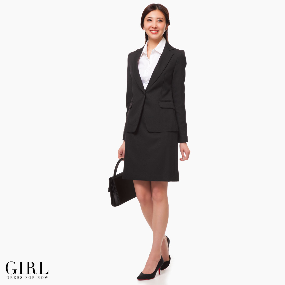 Dress shop girl rakuten global market it is 50 generations for it is 50 generations for 40 generations for black suit worn for a job interview or important occasion female office worker business suit 20s 30 generations ombrellifo Image collections