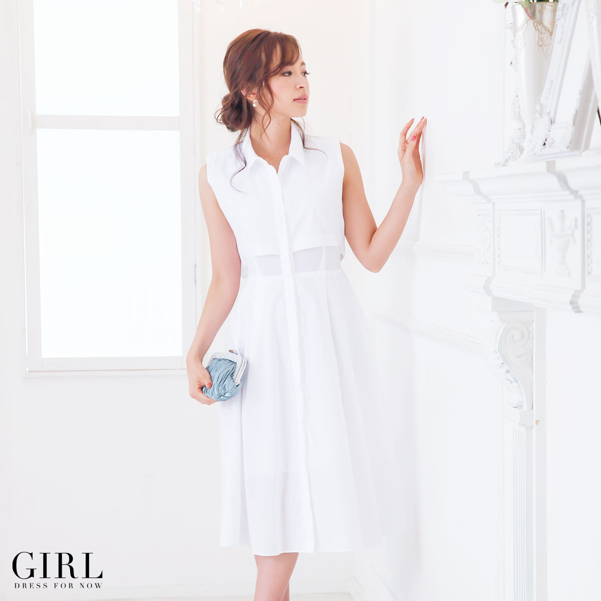 ad3761275719b Dress shop GIRL: One piece dress invited large size parties ladies formal  sleeveless sleeves 20s 30s 40s adult one size fits most   Rakuten Global  Market