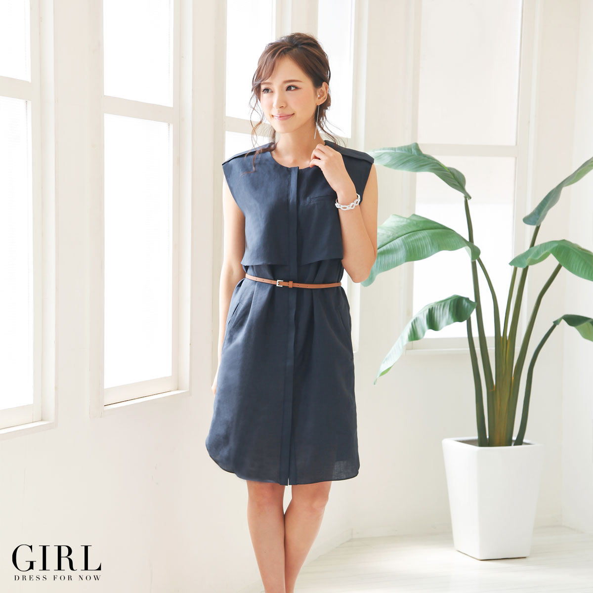 c2606caacf203 Dress shop GIRL: One piece dress invited Parties ladies formal sleeveless  sleeves 20s 30s 40s adult one size fits most   Rakuten Global Market