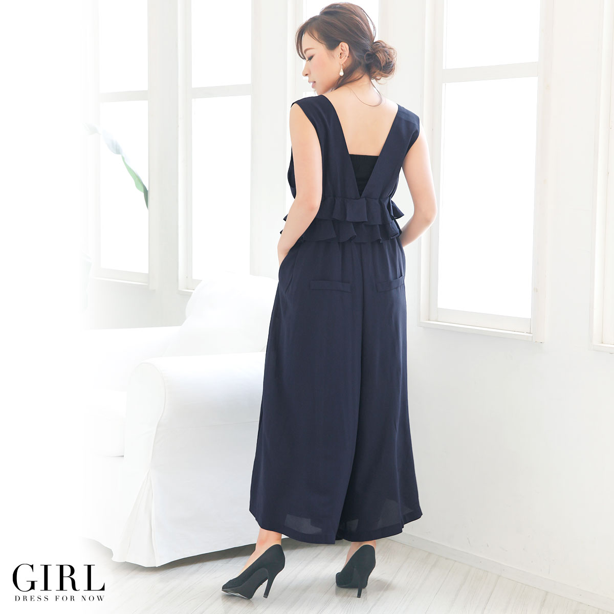 Dress shop GIRL | Rakuten Global Market: All-in-one pants wide ...