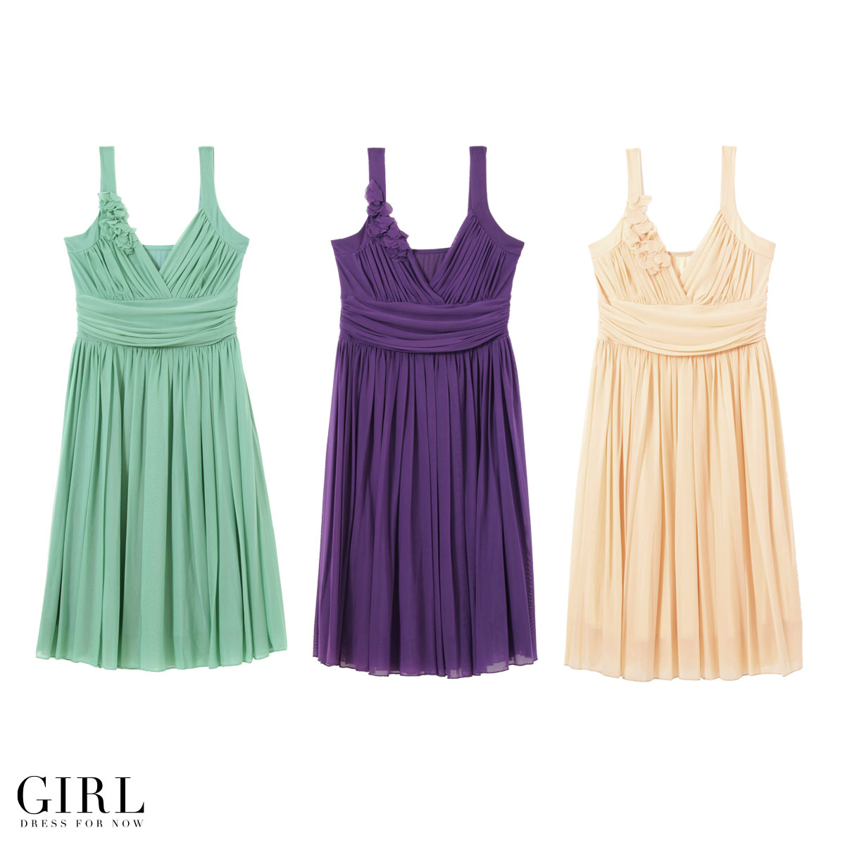 Party dress ☆ wedding dress invited kashkul, chest flower motif casually classy ☆ minivan API ☆ parties party party party dress 3 one piece one-piece one-piece - Su ladies dress sleeveless clothes dresses