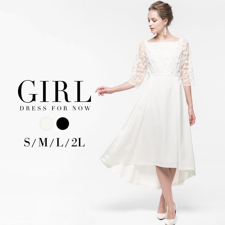 82f595c807c81 ウェディングドレス パーティードレス ワンピース 結婚式 ドレス 送料無料 S M L LL XL 2L 3L 謝恩