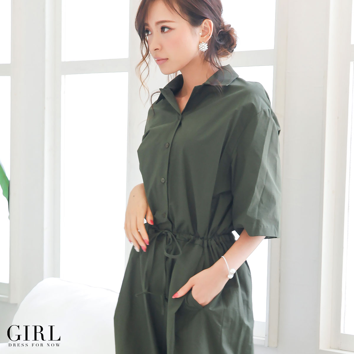 2f4cc22d74553 Dress shop GIRL: Prom dress pants dress all-in-one ladies ' prom dresses  store otonagirl (otonaGIRL) shirt type all-in-one pants dress all-in-one  overalls ...