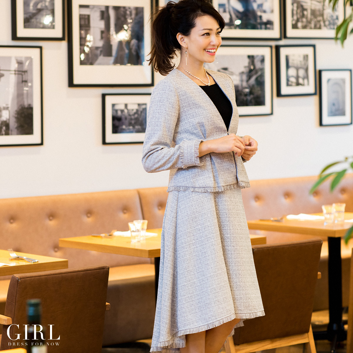 17111518b95a Dress shop GIRL: The size business office and others which a suit Lady's  four circle has a big and graduation ceremony entrance ceremony graduation  ceremony ...
