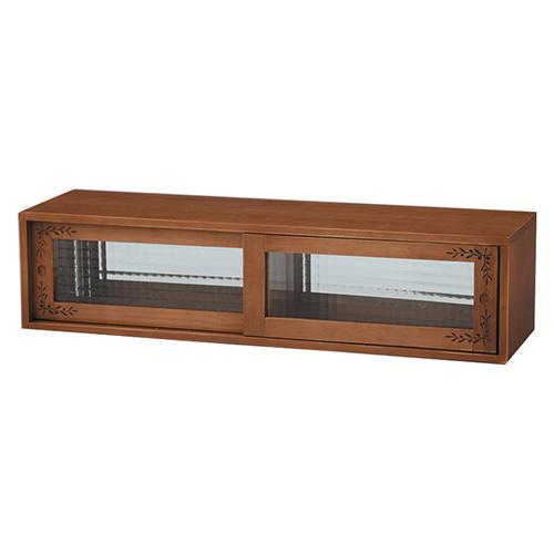 キッチン収納 カウンター上収納 ワイド ガラスケース 収納ケース フードケース 木製 収納 カウンター上 キッチン ナチュラル カントリー 調味料