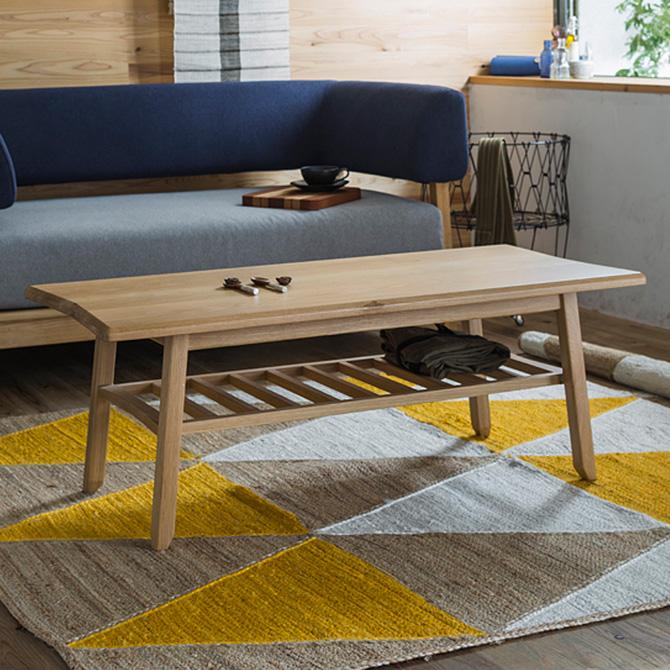 SIEVE シーヴ bow センターテーブル (W110×D50×H40cm) センターテーブル ローテーブル 木製 幅110 コーヒーテーブル 無垢 リビング 家具 北欧 ナチュラル