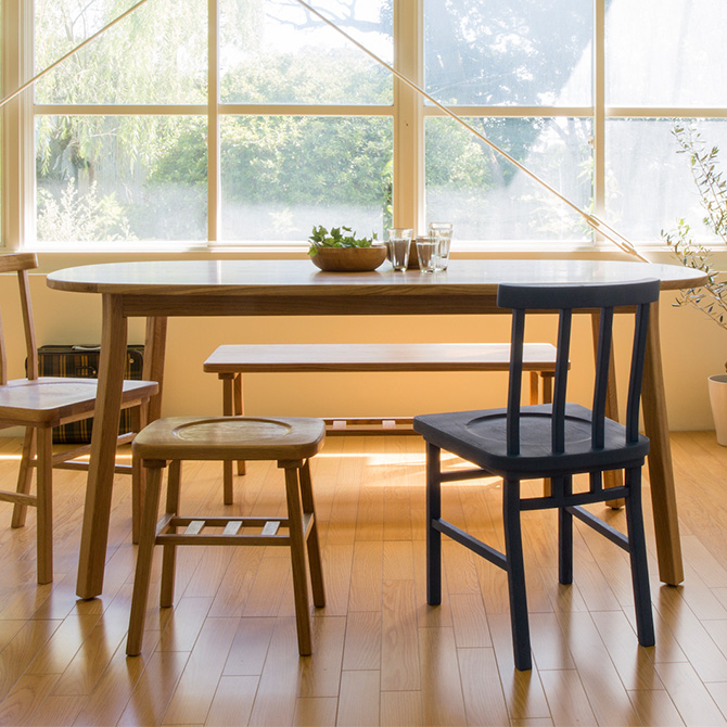 [2000円OFFクーポン配布中] SIEVE シーヴ merge ダイニングテーブル ラウンド (W165×D85×H72cm) ダイニングテーブル 木製 無垢 ラウンド オーバル ダイニング テーブル 食卓 家具 北欧