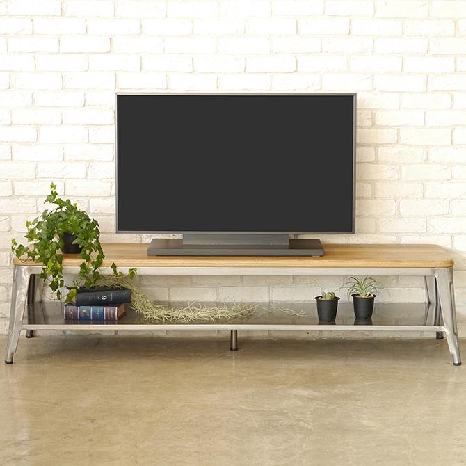 MOSH モッシュ TV BOARD 160 テレビボード160 テレビボード テレビ台 ローボード スチール 無垢材 ビンテージ ヴィンテージ」 シンプル インテリア 家具