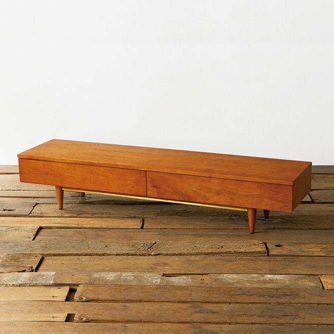 ACME Furniture アクメファニチャー TRESTLES ローテレビボード テレビボード ロータイプ 160cm テレビ台 ローボード 無垢 ナチュラル 天然木 ヴィンテージ シンプル