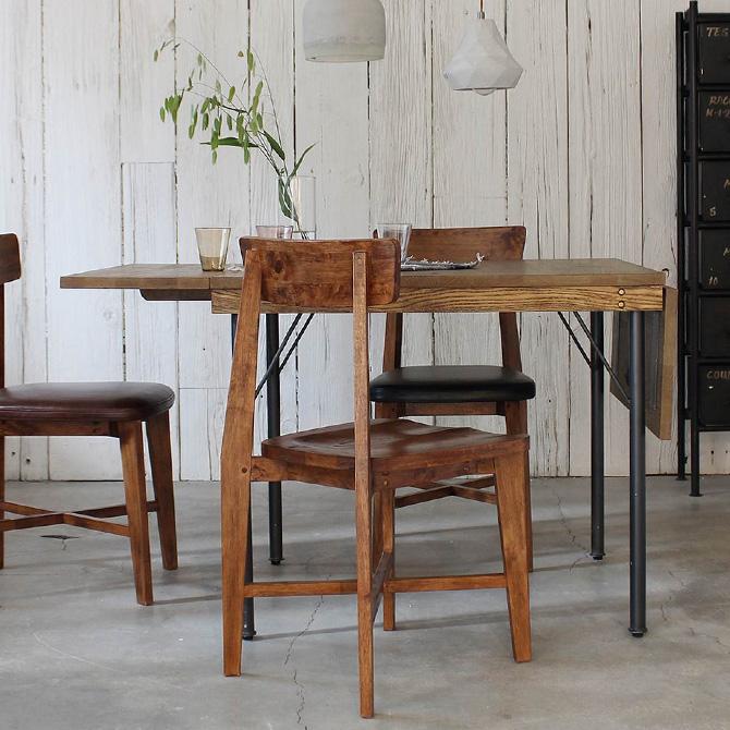 journal standard Furniture ジャーナルスタンダードファニチャー PSF バタフライテーブル ダイニングテーブル 伸縮 折りたたみ 2人 3人 4人 無垢 天然木製 ナチュラル ヴィンテージ