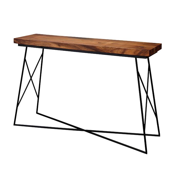 Gerald ジェラルド カウンターテーブル カウンターテーブル ハイテーブル 机 天然木 男前 アイアン かっこいい ヴィンテージ ビンテージ インダストリアル