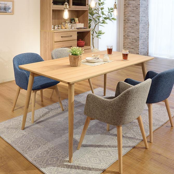 Karameri カラメリ ダイニングテーブル 幅150cm ダイニングテーブル テーブル 机 北欧 ナチュラル 天然木 シンプル 木目