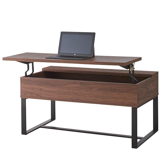 2WAYテーブル 昇降式テーブル 昇降テーブル リフトテーブル リフティングテーブル ローテーブル センターテーブル 幅90cm おしゃれ ナチュラル ブラウン