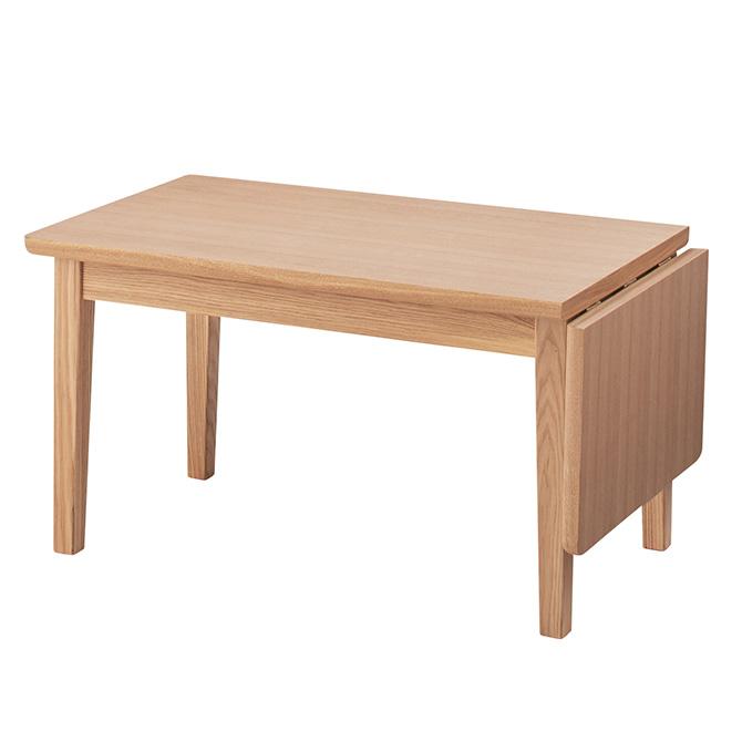 エクステンションセンターテーブル 伸長式テーブル 伸長テーブル 伸縮テーブル ローテーブル 幅80cm 幅110cm 引き出し付き リビングテーブル コーヒーテーブル ナチュラル ブラウン