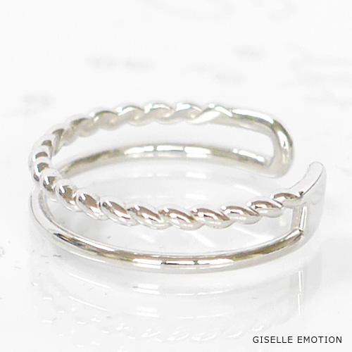 ピンキーリング 0号~6号 『二連風K10ピンキーリング』ダイヤモンド|華奢ピンキーリング|ねじれデザイン|重ね付けピンキーリング|ファランジリング|プレゼントピンキーリング|おしゃれピンキーリング|指輪|結婚記念日|誕生日|プレゼント|妻|彼女