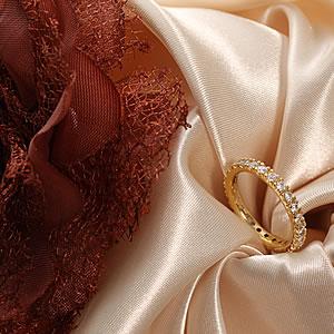 贈り物 ☆憧れのフルエタニティー ゴールドキュービックジルコニア ジュエリーフルエタニティーリング 指輪 プレゼント アクセサリー ring お中元 ギフト