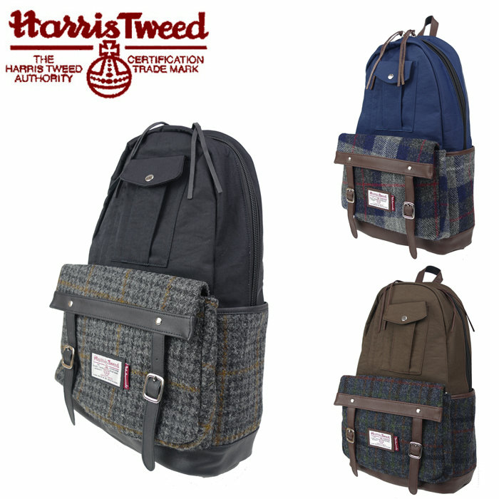 日包帆布背包背包哈里斯苏格兰呢日包17015200 Harris Tweed INDISPENSABLE独立斯宾瑟斗牛犬