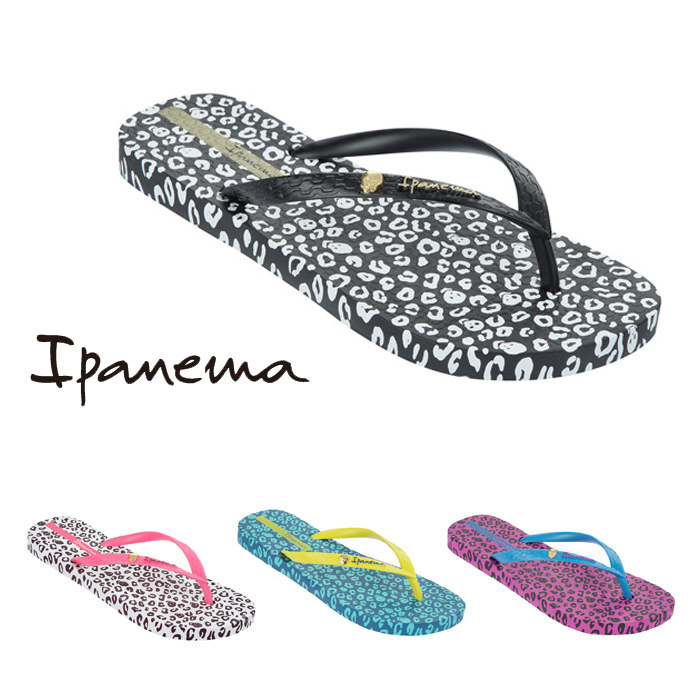1dbe998e9 The girl from Ipanema Sandals ladies flip flops thong Sandals PM81695  ANIMAL PRINT animal pattern rubber shoes rubber sandals