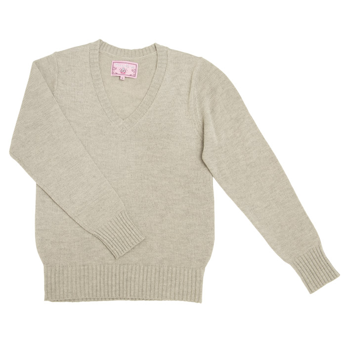 a9b4d96451c5f6 Halloween costume play V neck sweater Lady's 制服杢 gray M/L school sweater  girl ...