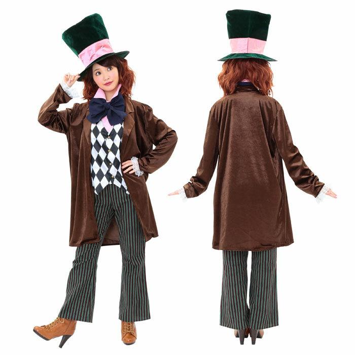 トリックハッター メンズ/レディース コスプレ 女性 男性 ユニセックス マッドハッター 帽子 大人 コスチューム ハロウィン 衣装 仮装 変装 イベント パーティー かわいい