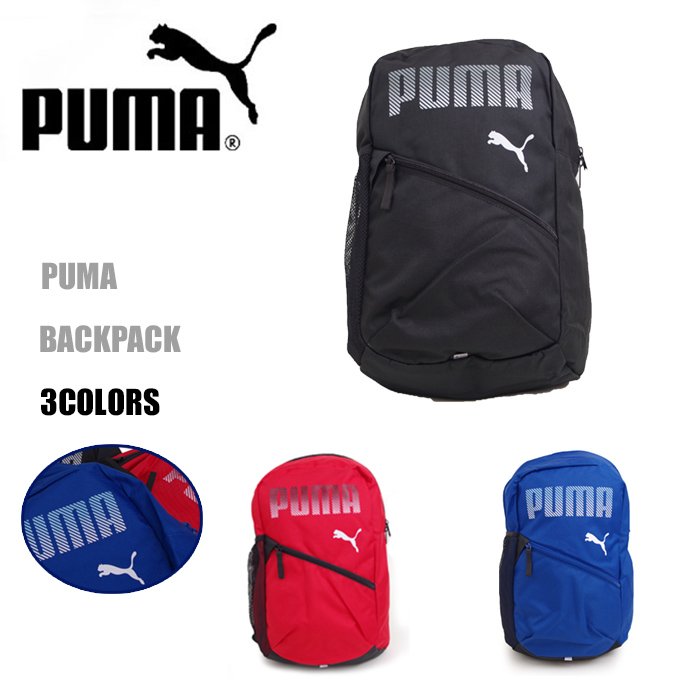 puma Puma rucksack kids boy Jr. rucksack plus backpack men   Lady s black    blue   red 22L 075483 D bag primary schoolchild child brand attending school  A4 ... 9ef9c5310b60e