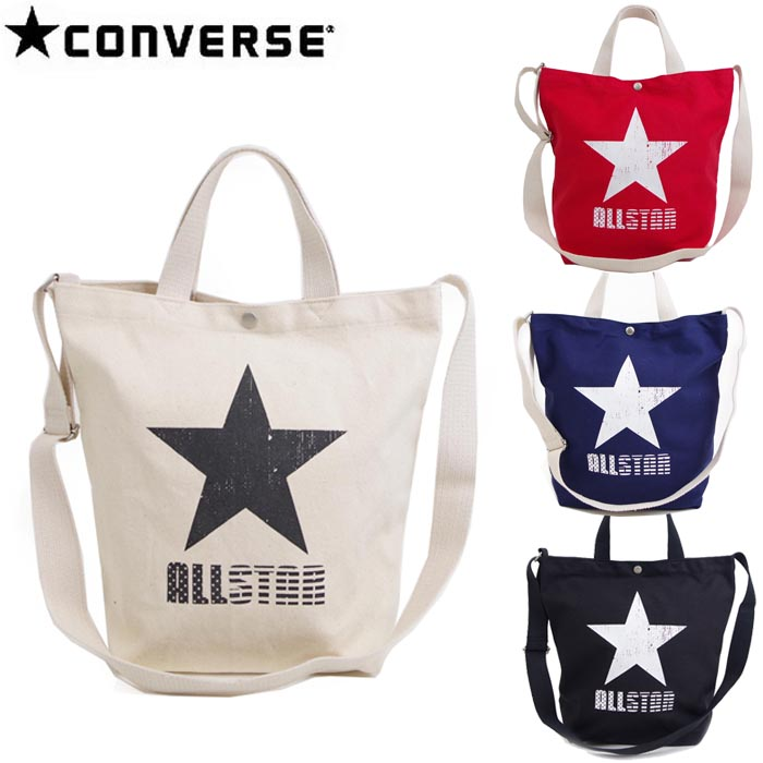 I take Converse 2WAY tote bag large-capacity star ALLSTAR slant, and all shoulder  bag big Thoth Lady s   men s four-colored CONVERSE 14478700 Thoth Mothers  ... b17d19ceea