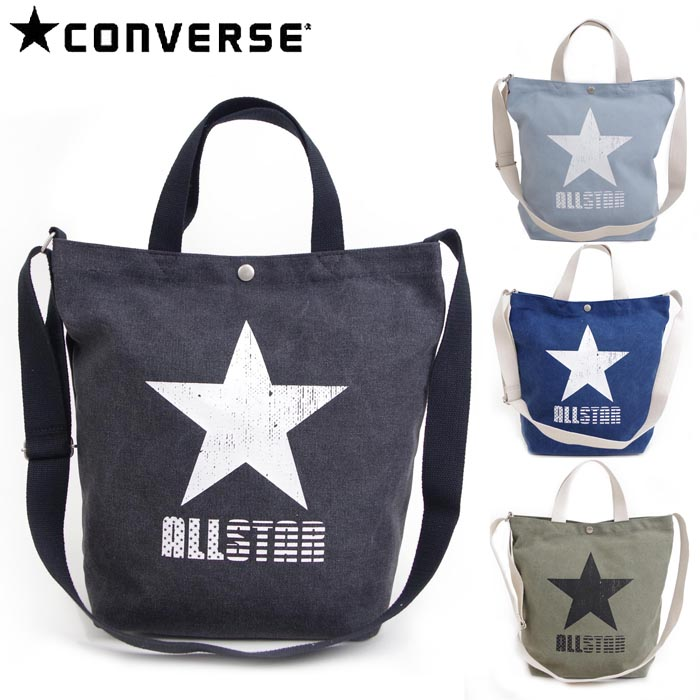 I take a Converse 2WAY tote bag large-capacity wash processing slant, and  all four colors of lady s   men shoulder bag star ALLSTAR CONVERSE 14479100  simple ... 2ab7495284