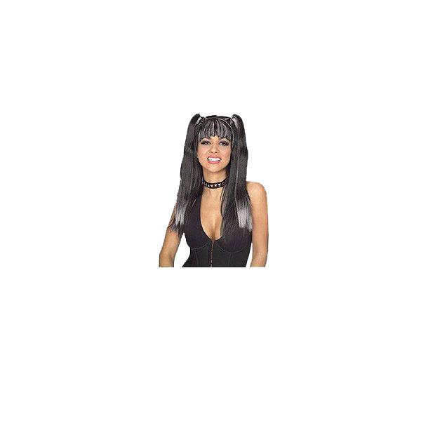 ハロウイン クリスマス パーテイ イベントに かつら カツラ Gothic Cheerleader Wig black 結婚式二次会 あす楽 宴会に grey 衣装 コスプレ 海外輸入 文化祭 価格 ハロウィン 51336イベント 学園祭