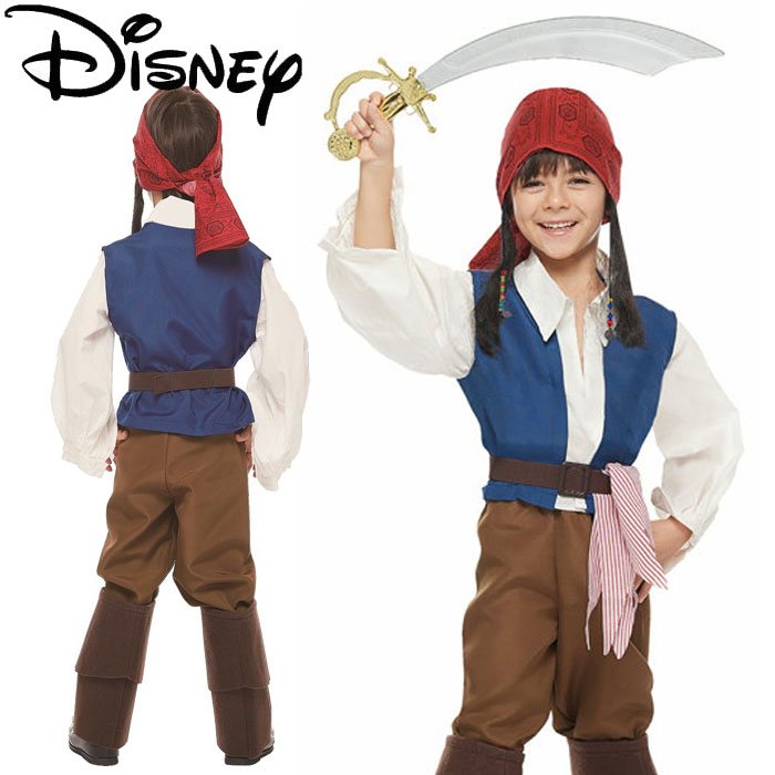 Halloween clothes child Disney boy Pirates of Cali lesbian Jack spa low Costume Child Jack Sparrow 37011 costume disguise kids DISNEY costume play event ...  sc 1 st  Rakuten : jack sparrow costume child  - Germanpascual.Com