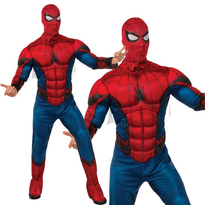 zakka green: Halloween costume play disguise clothes men deluxe Spider-Man Deluxe Spiderman ...