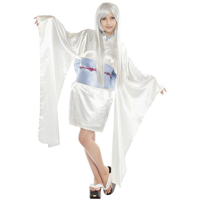 Zakka Green Halloween Cosplay Costume Adult Women S Yuki Onna