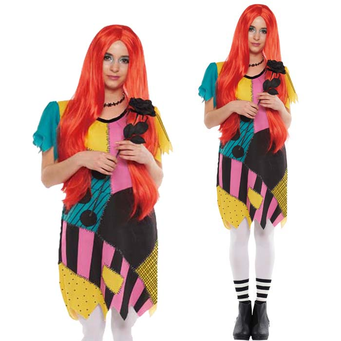 halloween costume adult disney temporary instrumentation costume ladies adult sally nightmare behave christmas party disneyland halloween events halloween