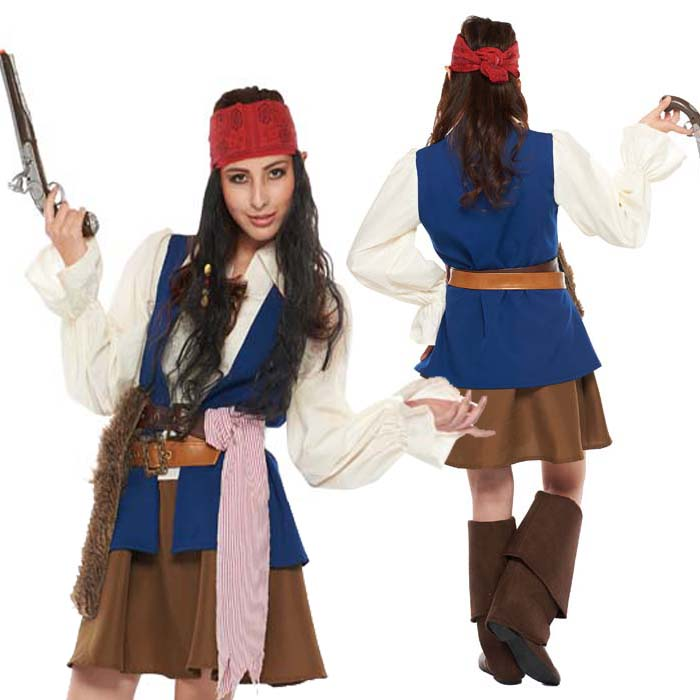 Halloween Disney cosplay costume adult womenu0027s anime adult Pirates of the Caribbean Pirate Jack Sparrow Disneyland fancy dress costumes Halloween parties ...  sc 1 st  Rakuten & zakka green | Rakuten Global Market: Halloween Disney cosplay ...