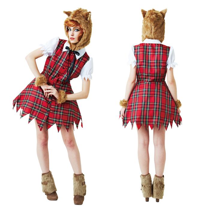 halloween adult costume womens wolf girl - Womens Wolf Halloween Costume