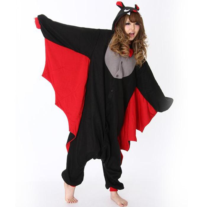 ハロウィン コスプレ 仮装 フリース 着ぐるみ 大人用 コウモリ 蝙蝠 着ぐるみパジャマ 大規模セール 衣装 文化祭 ハロウイン お祭り あす楽 訳あり品送料無料 部屋着 こうもり コスチューム イベント