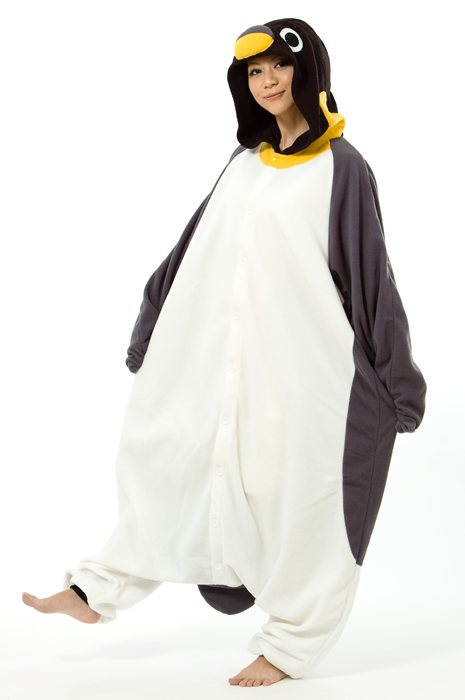 5564d9aecddf Halloween costume cosplay masquerade fleece Costume-Adult Penguin costume  Pajamas room wearing cultural festival festive Halloween events